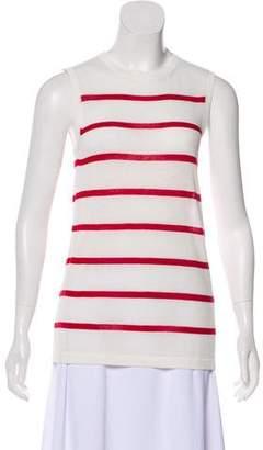Jenni Kayne Cashmere-Blend Striped Sleeveless Top