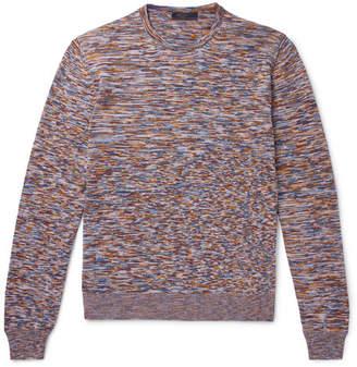 Prada Slim-Fit Space-Dyed Mélange Virgin Wool Sweater
