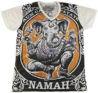 Ganesh WORK elephant hindu god hippie yantra T-Shirt / WK103 size L