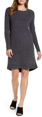 Caslon Long Sleeve Thermal Stitch Sweater Dress