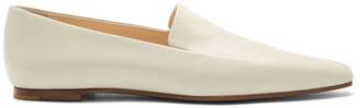 The Row Grey Minimal Loafers