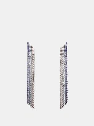 Lynn Ban - Waterfall Sapphire & Rhodium Plated Earrings - Womens - Blue