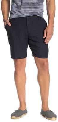 Toscano Grid Check Linen Shorts