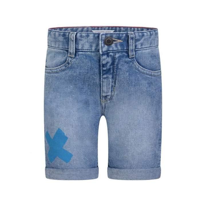 Little Marc JacobsBoys Blue Denim Punk Shorts