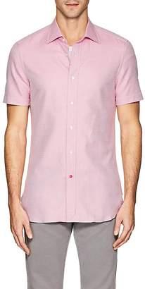Isaia Men's Neat Cotton Shirt
