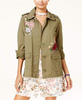 American Rag Juniors' Embroidered Cargo Jacket, Created for Macy's $79.50 thestylecure.com
