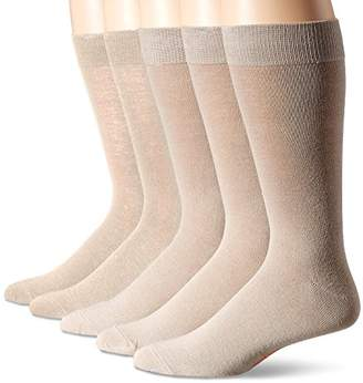 Dockers 5 Pack Classics Dress Flat Knit Crew Socks