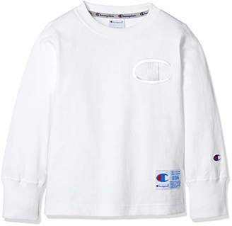 Champion (チャンピオン) - [チャンピオン] ビッグC ロングスリーブTシャツ CS4787 ボーイズ オフホワイト 日本 120 (日本サイズ120 相当)