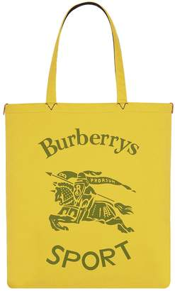 Burberry Large Canvas Equestrian Knight Shopper