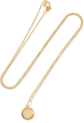 Andrea Fohrman Full Moon 18-karat Gold Multi-stone Necklace - one size