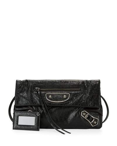 Balenciaga  Balenciaga Metallic Edge Lambskin Envelope Clutch Bag