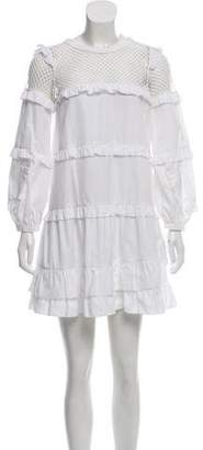 No.21 No. 21 Crochet-Accented Mini Dress