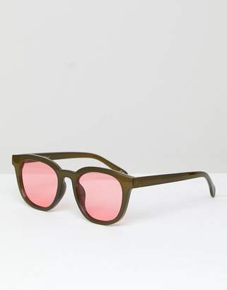 Jeepers Peepers Round Sunglasses In Green