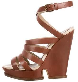 Saint Laurent Leather Multi-Strap Sandals