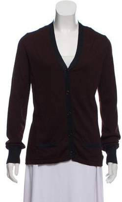 Proenza Schouler Wool-Blend Long Sleeve Cardigan