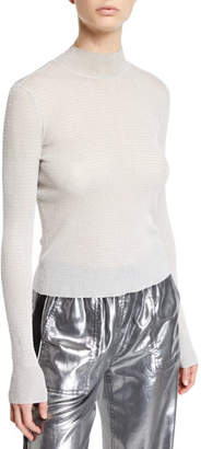 Rag & Bone Raina Metallic Turtleneck Sweater
