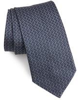 John Varvatos Geo Oval Silk Tie
