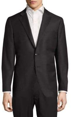 Saks Fifth Avenue Modern Fit Textured Wool-Blend Sportcoat