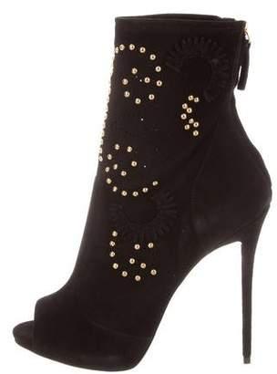Giuseppe Zanotti Stud-Embellished Peep-Toe Booties