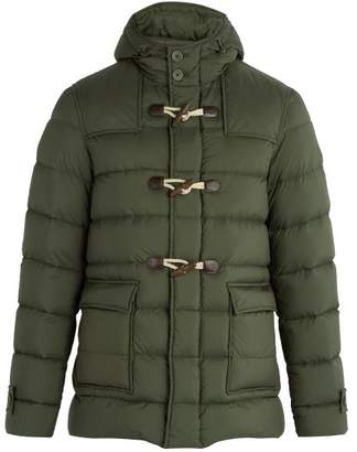 Herno Legend Montgomery Hooded Quilted Down Jacket - Mens - Green