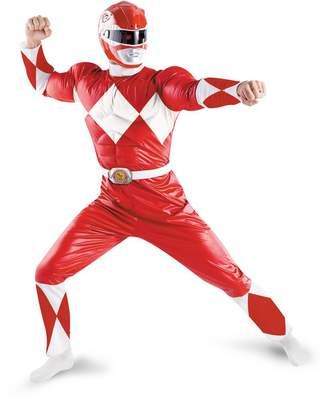 Disguise Men's Saban Power Rnagers Mighty Morphin Red Ranger Classic Muscle Costume