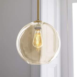 west elm Sculptural Glass Globe Pendant - Medium (Champagne)