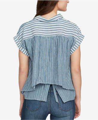 William Rast Cotton Tie-Back Shirt