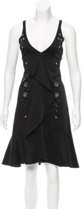 Proenza Schouler Ruffled-Accented Grommet Dress