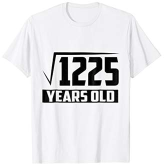 35 Years Old Square Root - Funny 35th Birthday Gift T-Shirt
