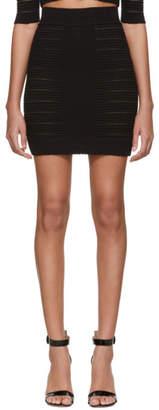 Balmain Black Medical Stripe High Waisted Miniskirt