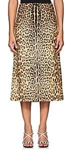 Valentino Women's Jaguar Calf Hair Midi-Skirt - Leopard