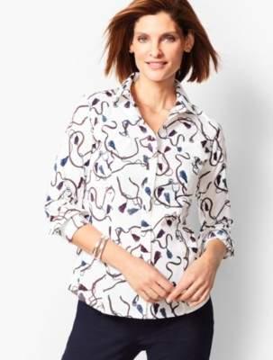 Talbots Perfect Shirt - Equestrian Print
