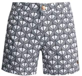 Retromarine - Tailored Swim Shorts - Mens - White Multi