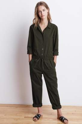 Velvet by Graham & Spencer SAYLOR COTTON TWILL BUTTON-UP JUMPSUIT