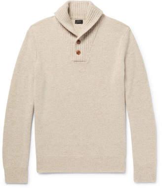 J.Crew Shawl-Collar Mélange Wool Sweater