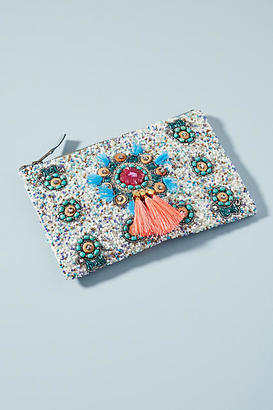 Anthropologie Kenna Beaded Pouch