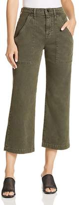Hudson Wide Leg Crop Cargo Jeans in Military Green 2