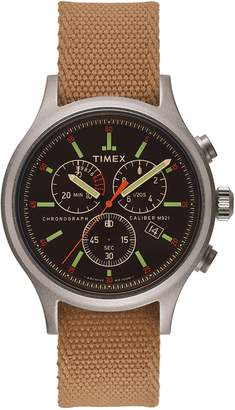Timex R) ARCHIVE Allied Chronograph Reversible Strap Watch, 40mm