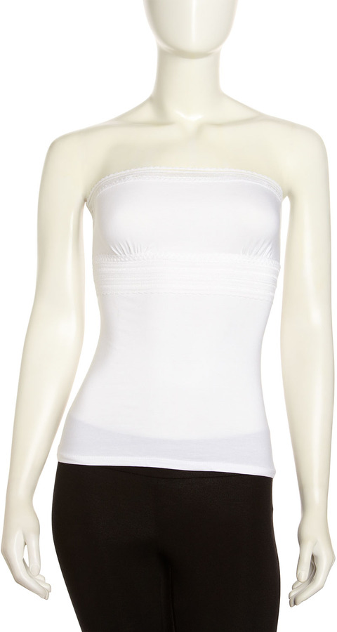 Hanky Panky Lace-Trim Banded Camisole, White