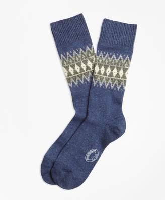 Brooks Brothers Fair Isle Wool-Silk-Blend Socks