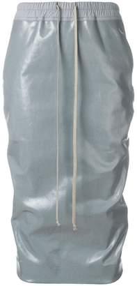 Rick Owens elasticate vernished skirt