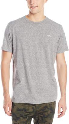 RVCA Men's Compound Short Sleeve Shirt, Grey Noise