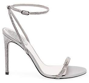 Rene Caovilla Women's Crystal Embellished Strappy Satin Stiletto Sandals