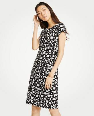 Ann Taylor Petite Floral Boatneck Sheath Dress