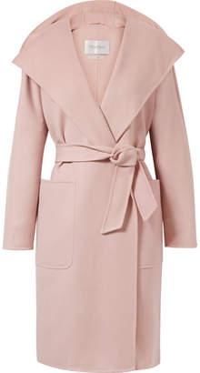 Max Mara Hooded Wool And Cashmere-blend Coat