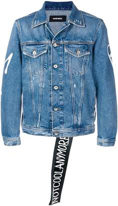 Diesel 'Not cool anymore' print denim jacket