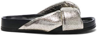 Chloe Metallic Leather Nolan Slides $575 thestylecure.com