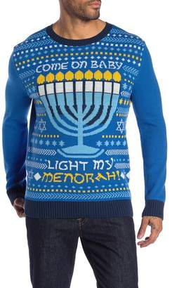 Ugly Christmas Sweater Come On Baby Light My Menorah Sweater