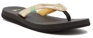 Sanuk Yoga Spree 4 Metallic Flip Flop