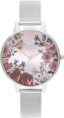 Olivia Burton British Blooms Stainless Steel Bracelet Watch